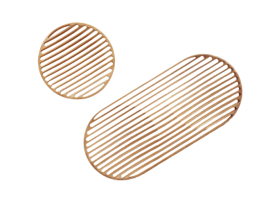Wooden Tray Double