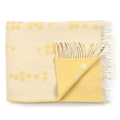 Wool Throw Dot yellow