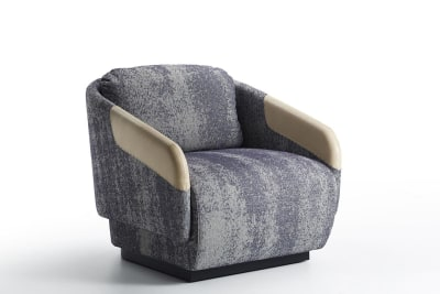 Worn Armchair Florida 2052, Vintage Antracite