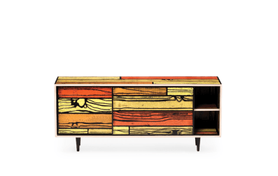 Wrongwoods Low Cabinet - L150 Yellow with Red