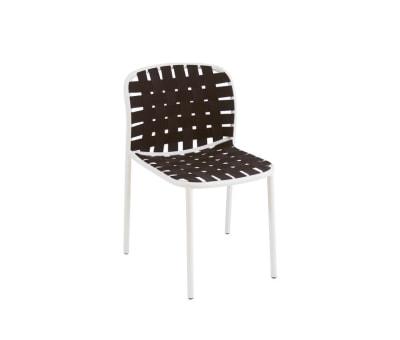 Yard Chair - Set of 4 Matt White - White/Grey