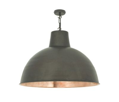7163 Spun Reflector, Large, Weathered/Polished Copper Interior by Davey Lighting Limited