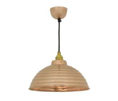 7170 Spun Ripple with Cord Grip Lampholder, Polished Copper by Davey Lighting Limited