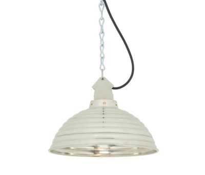 7170 Spun Ripple with Suspension Lampholder, Polished Aluminium by Davey Lighting Limited