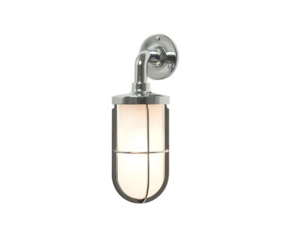 7207 Weatherproof Ship's Well Glass, Chrome, Frosted Glass by Davey Lighting Limited