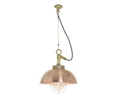 7222 Shipyard Pendant, Copper, Clear Glass by Davey Lighting Limited