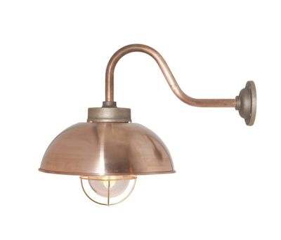 7222 Shipyard Wall, Copper, Clear Glass by Davey Lighting Limited