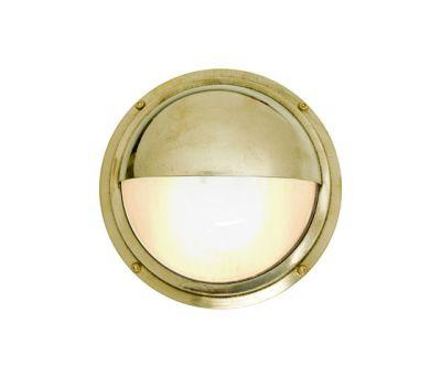 7225 Brass Bulkhead With Eyelid Shield, Polished Brass by Davey Lighting Limited