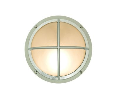 7226 Brass Bulkhead With Cross Guard, Chrome Plated by Davey Lighting Limited