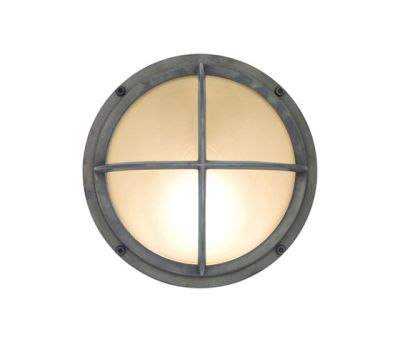 7226 Brass Bulkhead With Cross Guard, Weathered Brass by Davey Lighting Limited
