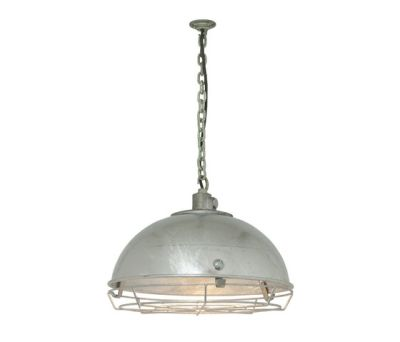 7238 Steel Working Light With Protective Guard, Galvanised by Davey Lighting Limited
