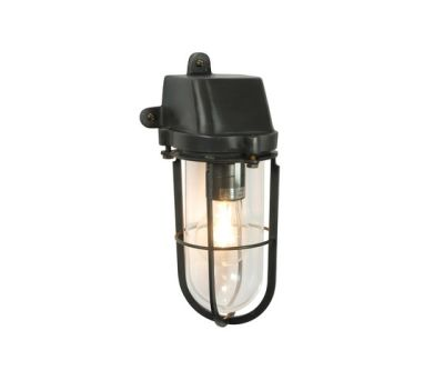 7401 Weatherproof Ship's Well Glass, Weathered Brass, Clear Glass E27 by Davey Lighting Limited