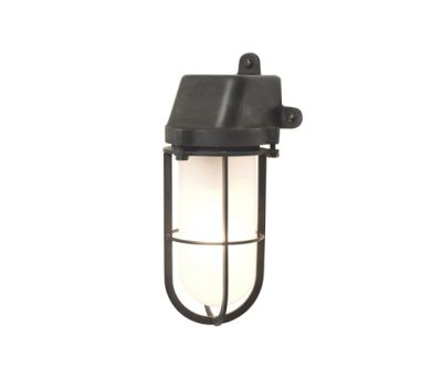 7401 Weatherproof Ship's Well Glass, Weathered Brass, Frosted Glass E27 by Davey Lighting Limited