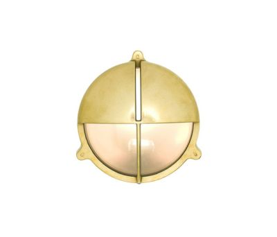 7428 Brass Bulkhead With Eyelid Shield, Natural Brass by Davey Lighting Limited