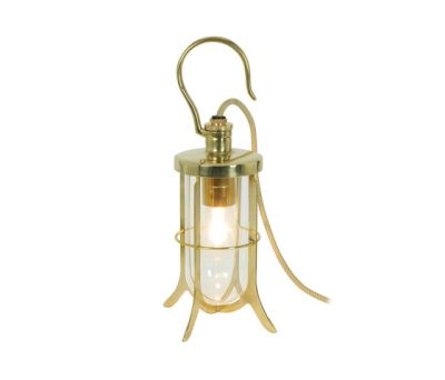 7521 Ship's Hook Light, Clear Glass, Polished Brass by Davey Lighting Limited