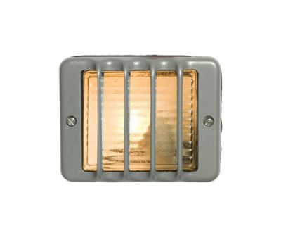 7576 Guarded Step Light, E14, Painted Grey by Davey Lighting Limited