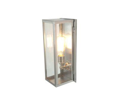 7650 Narrow Box Wall Light, Internal Glass, Satin Nickel, Clear Glass by Davey Lighting Limited