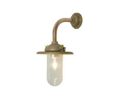 7685 Exterior Bracket Light, Ref, Right Angle, Round, Gunmetal, Clear Glass by Davey Lighting Limited