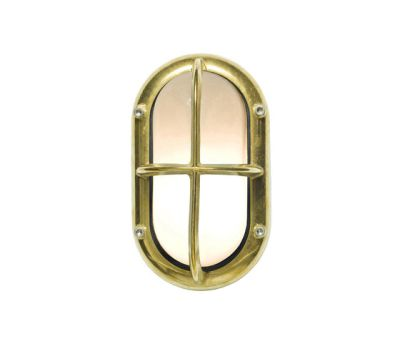 8123 Small Exterior Bulkhead Fitting, Brass by Davey Lighting Limited