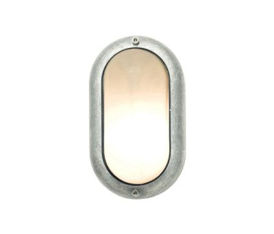8124 Small Exterior Oval Bulkhead Fitting, Aluminium by Davey Lighting Limited