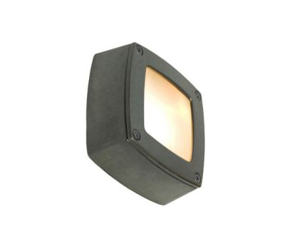 8139 Wall/Ceiling Light Square, Plain Bezel, Weathered Brass by Davey Lighting Limited