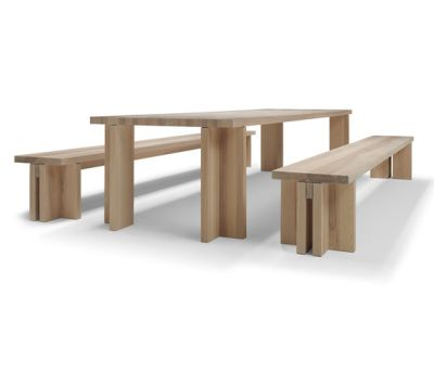 Akiro table/bench by Linteloo