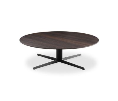 Baba coffee table by Poliform mat lacquered bianco structure,matt bianco carrara top