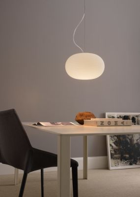 Bianca Suspension lamp Medium by FontanaArte
