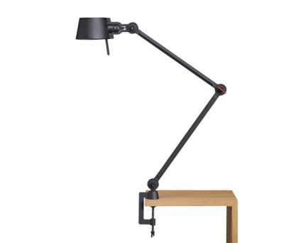 BOLT desk lamp - double arm - with clamp by Tonone