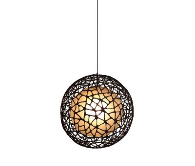 C-U C-Me Hanging Lamp round medium by Kenneth Cobonpue