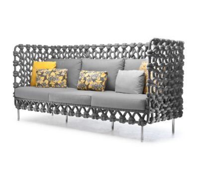 Cabaret Sofa High Back by Kenneth Cobonpue