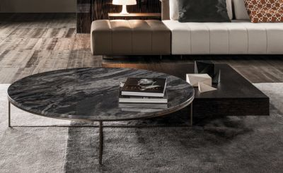 Calder Bronze Side table by Minotti