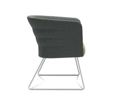Cell 75 sled base easy chair with armrests by SitLand