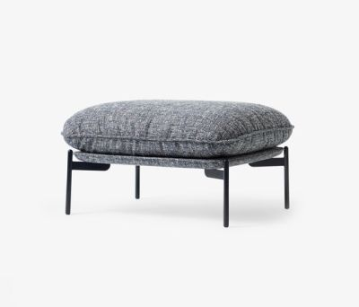 Cloud Pouf LN4 blue tweed by &TRADITION