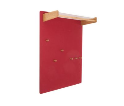 Coat rack panel with a shelve for hats, wide DBV-291 by De Breuyn