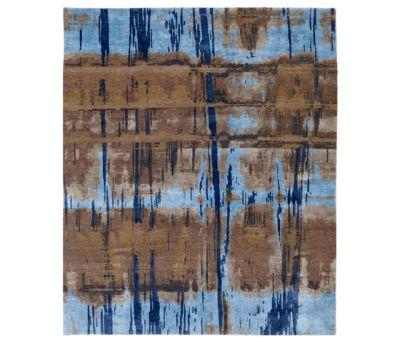 Crash 18 Teppich blau by Christine Kröncke