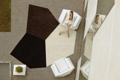 Faz rug Brown, Black and White 400 x 380
