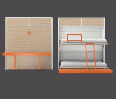 Folding bed by LAGRAMA