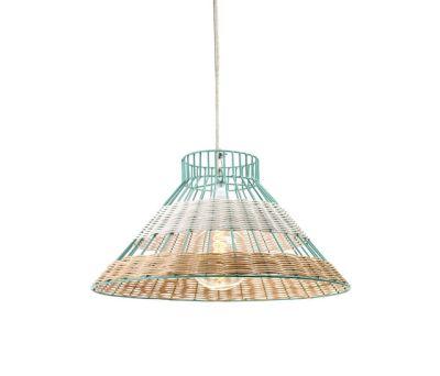 Hanging Lamp Rattan blue/white by Serax