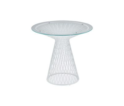 Heaven round table; Ø80 Glossy White/Transparent