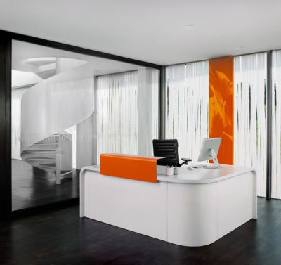 Highline M10 Reception desk by Müller Möbelfabrikation