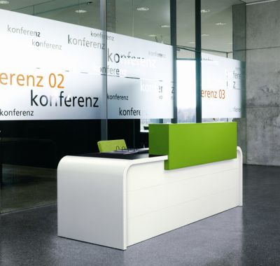 Highline M16 Reception desk by Müller Möbelfabrikation