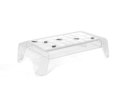 Ivy coffee table with mesh top