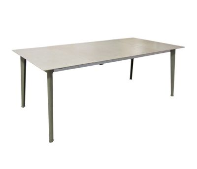 Kira extensible table with ceramic top Grey