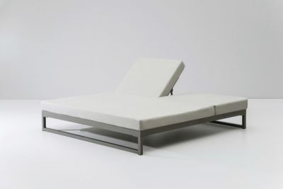 Landscape double lounger with 5-position by KETTAL