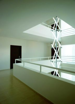 Light Structure T3 stairhouse installation by Archxx