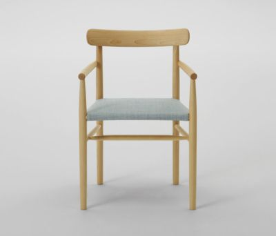 Lightwood Arm Chair (Cushioned Seat) by MARUNI
