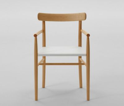 Lightwood Arm Chair (Mesh Seat) by MARUNI