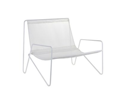 Lounge Armchair frame white/fabric white by Serax