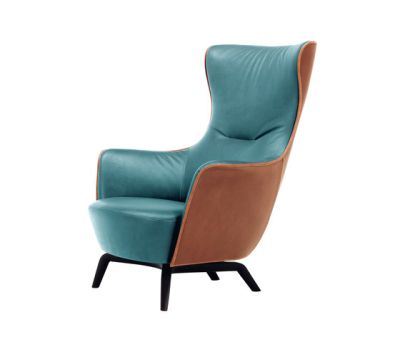 Mamy Blue Armchair by Poltrona Frau